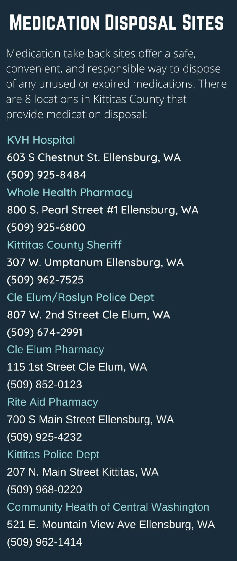 where to drop off medications